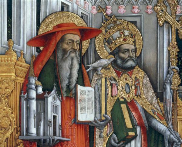 A.Vivarini, Hieronymus und Gregor - A.Vivarini / Jerome & Gregory / Paint. - A.Vivarini/Sts Jerome et Gregoire