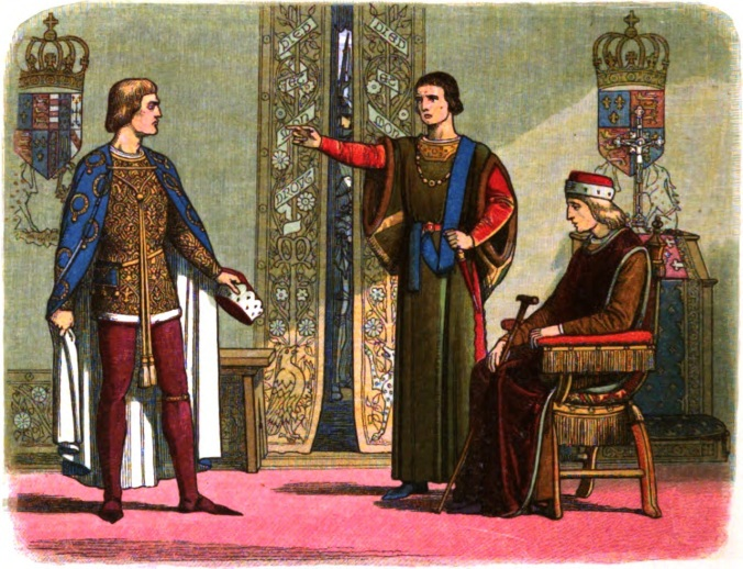 A_Chronicle_of_England_-_Page_400_-_Henry_VI_and_the_Dukes_of_York_and_Somerset
