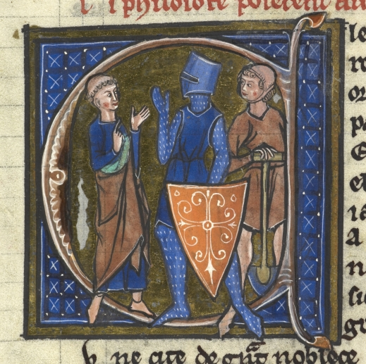 Sloane 2435 f. 85 Cleric, knight and peasant